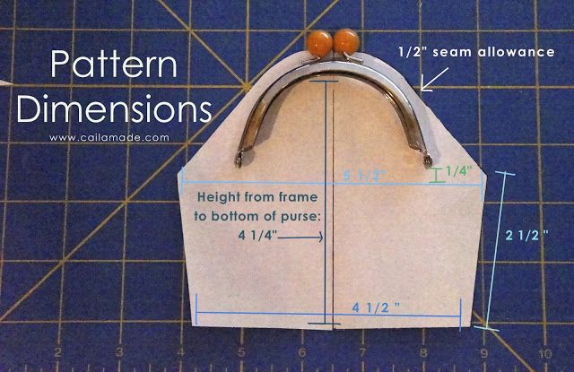 Caila-Made: Make your own metal frame clutch pattern: A