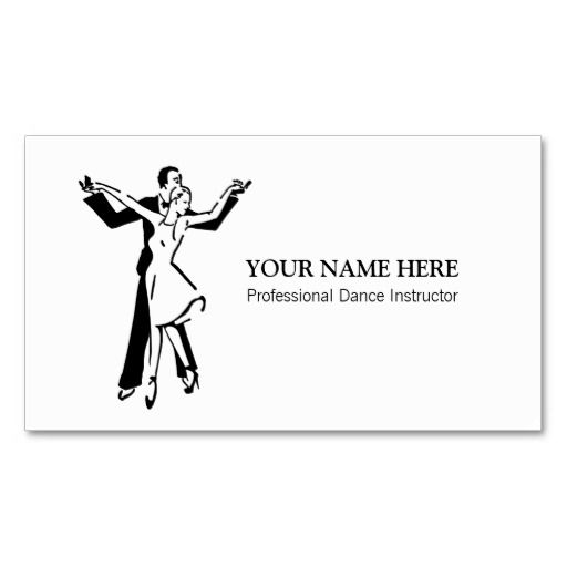 280 best images about Dance Instructor Business Cards on