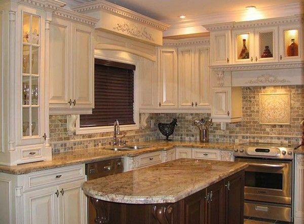 old worldstyle kitchenlove the detailed carved offwhite cabinets granite counters