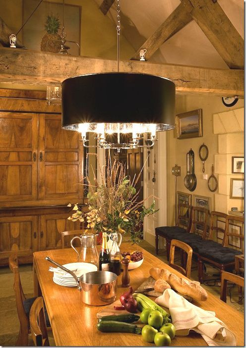 Black Drum Shade Chandelier Home Pinterest English