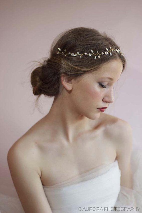 Die 25 Besten Stirnband Hochzeit Haar Ideen Auf Pinterest