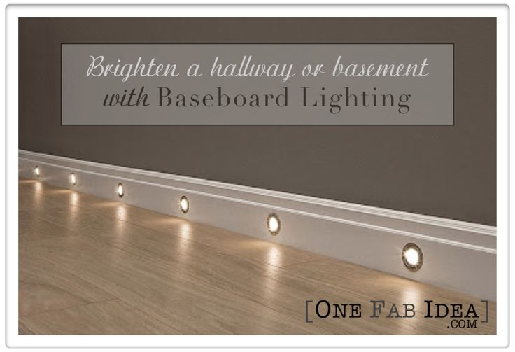 Hallway Baseboard lights  For the Home  Pinterest