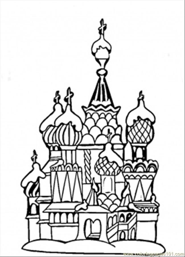 Coloring Pages Center Of Moscow (Countries > Russia