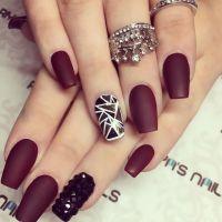 25+ Best Ideas about Burgundy Nail Designs on Pinterest ...