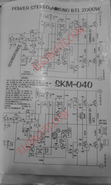 400w Amplifier With 2n3055 Mj2955 Circuit Schematic Electronics