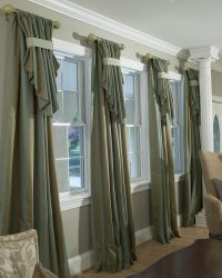 Custom drapery | Parda | Pinterest | Curtain rods, Large ...
