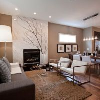 Living Room Mocha Design, Pictures, Remodel, Decor and