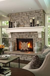 25+ best ideas about Fireplace between windows on ...