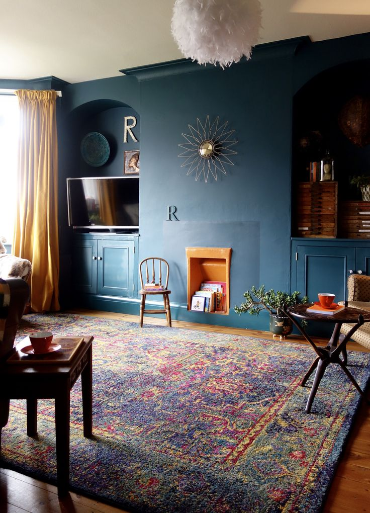 25 best ideas about Dark blue walls on Pinterest  Navy walls Eclectic living room and Dark walls