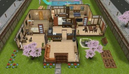 sims freeplay japanese houses play plans much layouts minecraft bigger modified mansions haunted visit