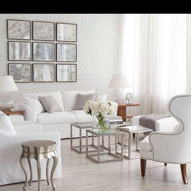 Silver home decor Ethan Allen living room  Ethan Allen