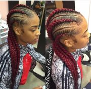feed in braids natural hair style