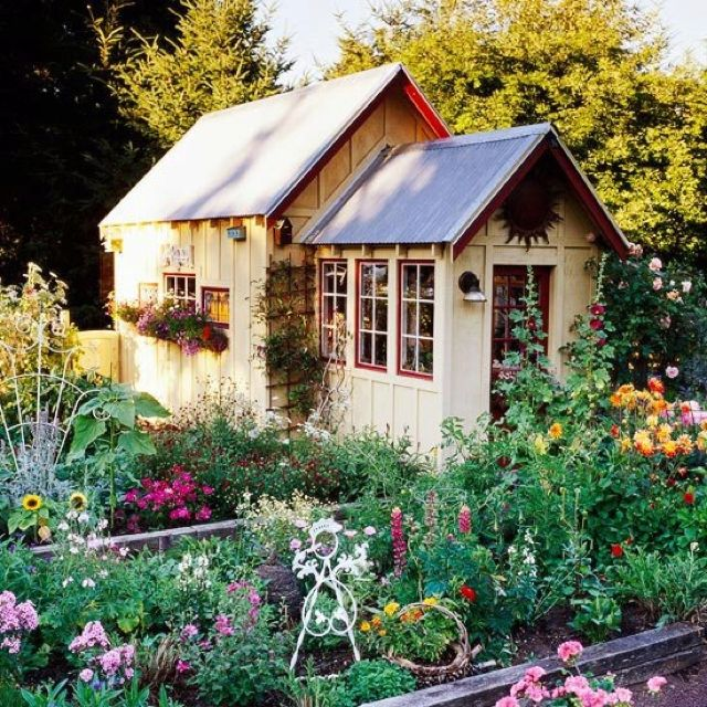 123 Best Images About Backyard Cottages And Sheds On Pinterest