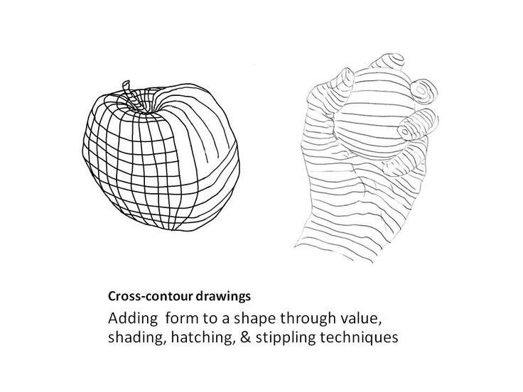 Cross-contour drawings & more projects for high school