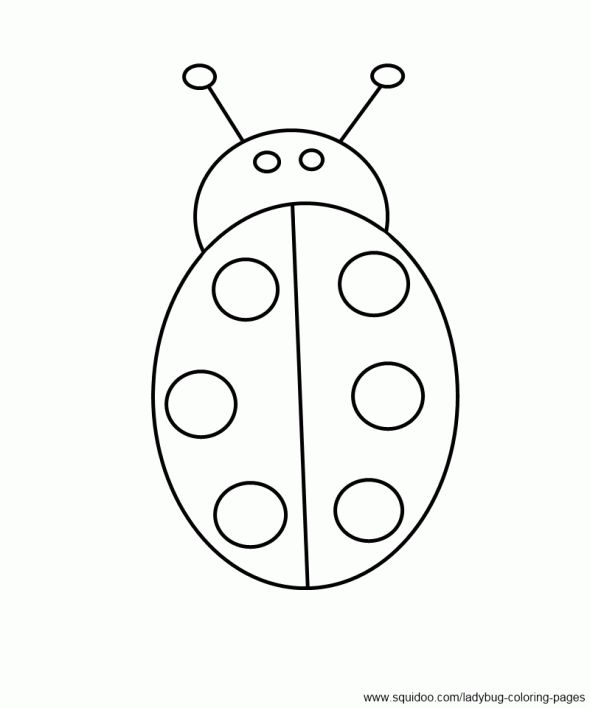 Ladybug Without Spots Coloring Pages