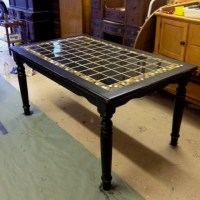 Antique black tile top table | Furniture | Pinterest ...