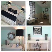 Mint bedroom. Teen girl's bedroom. Paris theme with silver ...