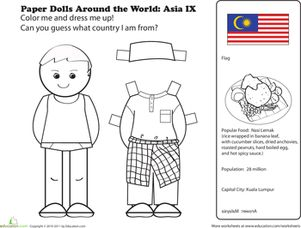 First Grade Geography Paper Dolls Community & Cultures