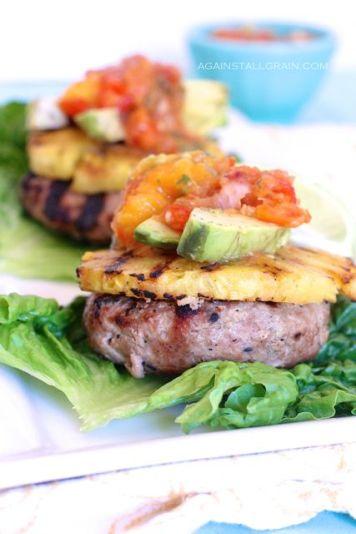 Hawaiian Turkey Burgers - Danielle Walker's Against All Grain: