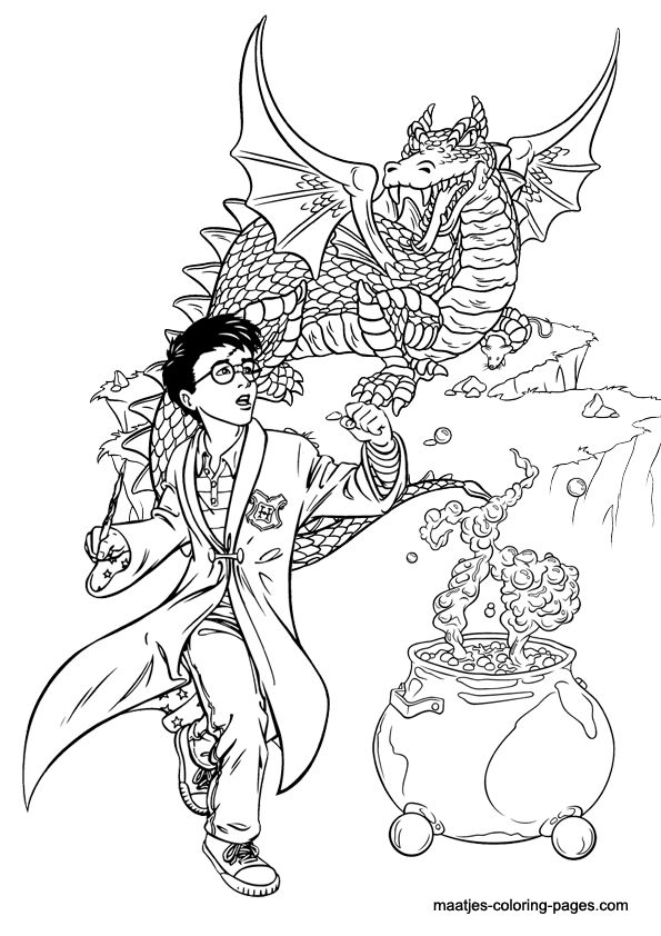 17 Best images about Harry Potter ~ Coloring Pages on