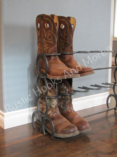 17 Best Ideas About Horseshoe Boot Rack On Pinterest
