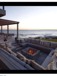 Sunken fire pit & seating area - love it! | garden and out ...