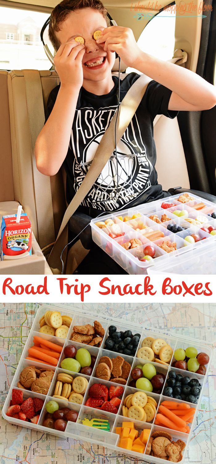 Road Trip Snack Boxes | An easy and yummy solution to keep kids fueled on road trips!: