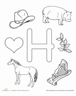 25+ best ideas about Letter H Worksheets on Pinterest
