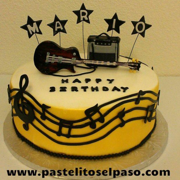 Picture Of A Guitar Birthday Cake Wallsmiga