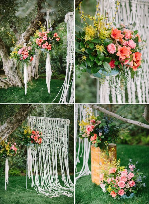 Image result for pastel macrame backdrop