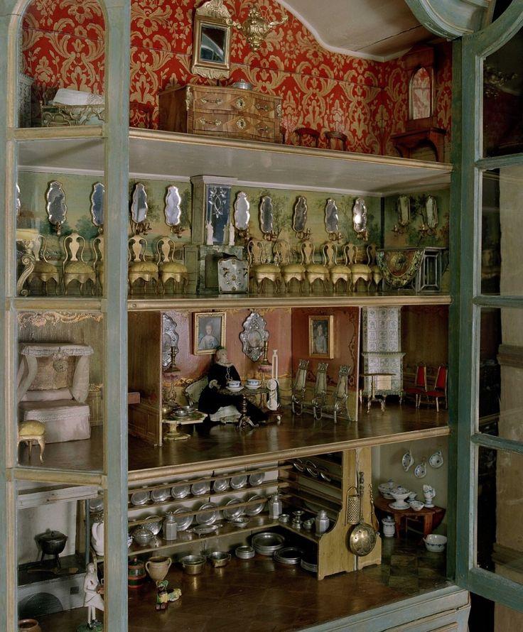 Antique Swedish Doll House  Dollhouse  Pinterest