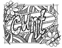 An Adult Colouring page for the rude adult in your life ...