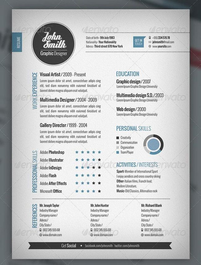 unique resume layout