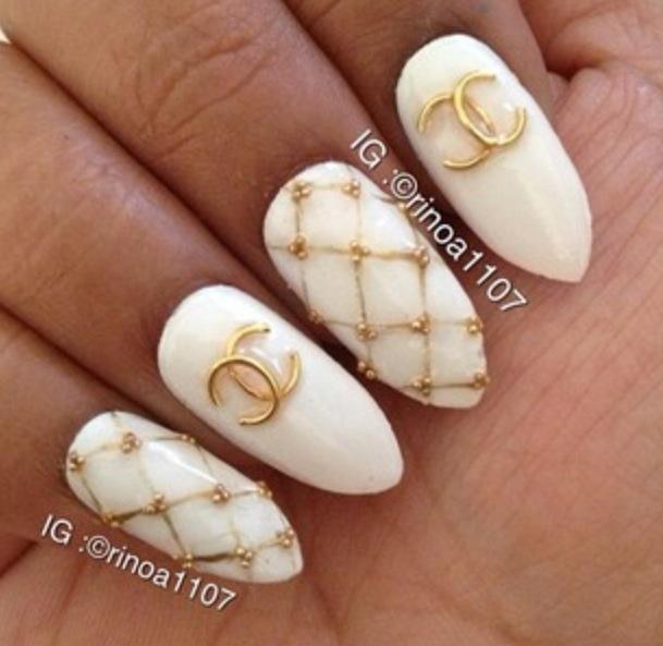 25+ trending Chanel nail art ideas on Pinterest