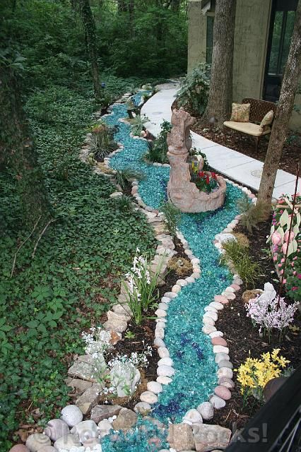 recycled glass landscape