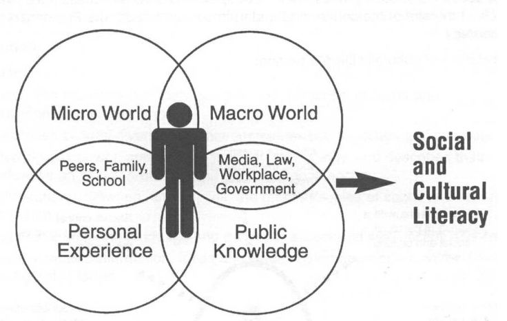 This image represents the integration process of a student