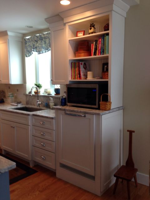 kitchen microwave cabinet red trash can raised dishwasher | pinterest microwaves ...