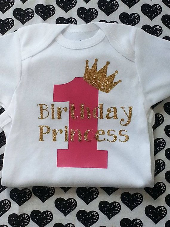 hanging chair for baby revolving images first birthday bodysuit, shirt, princess pink and gold shirt ...