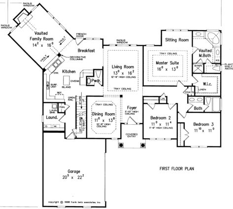One Story Floor Plan; Make bedroom 2 the study; somehow