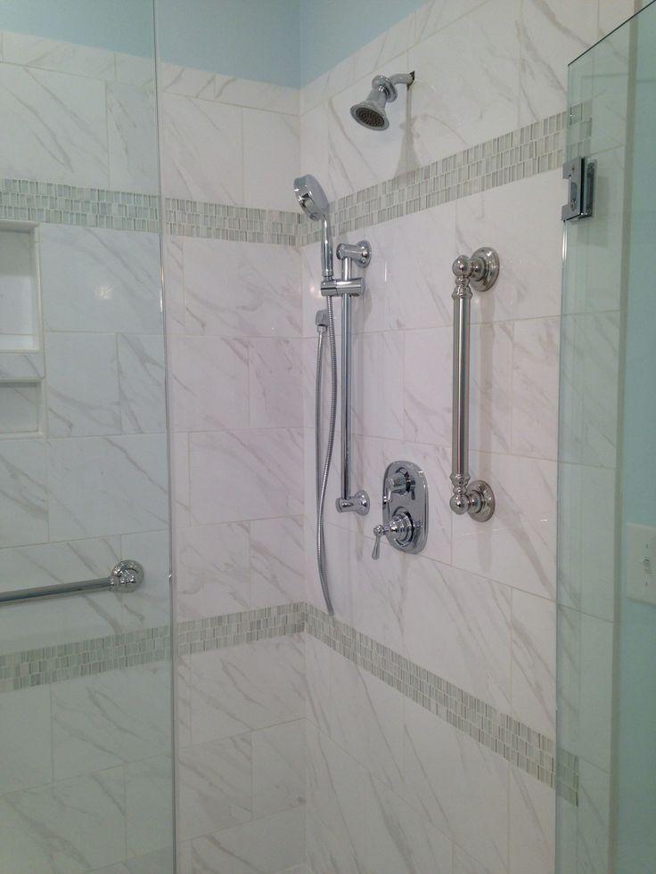 Daltile Florentine FL06 Carrara 10x14 With Glass Accent