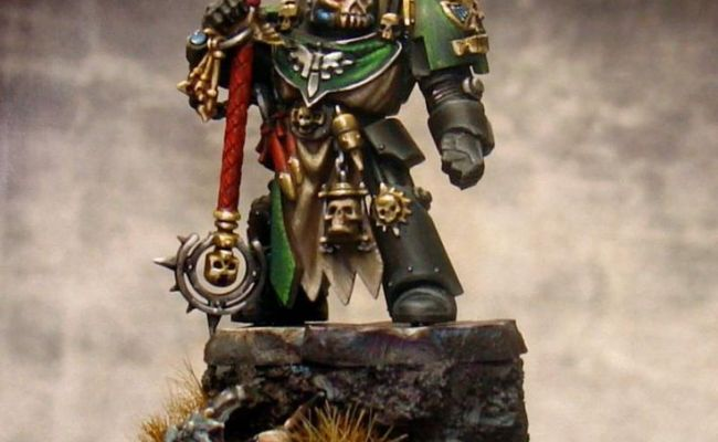 Chaplain Dark Angels Display Games Workshop Non