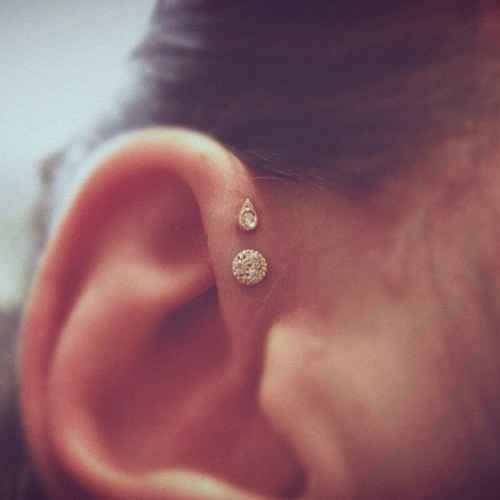 The Double Forward Helix | 28 Adventurous Ear Piercings To Try This Summer