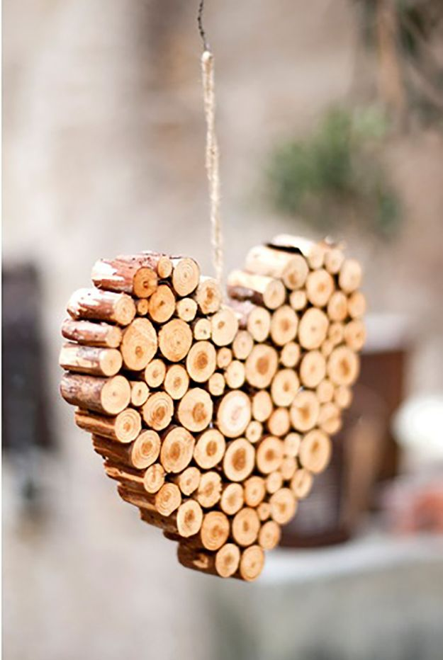 DIY Projects for the Home DIY Twig Heart