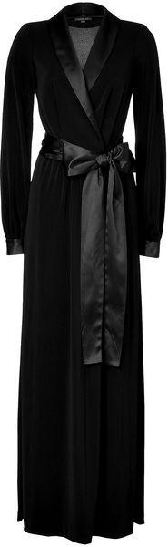 I have a long black bathrobe, but I wonder if I could add the satin trim and bow. Hmmmm…