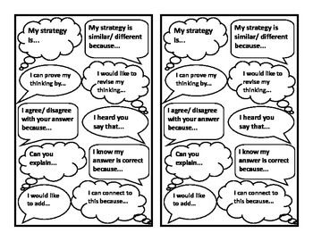17 Best ideas about Math Sentence Starters on Pinterest