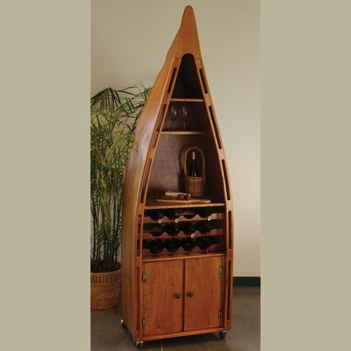 Canoe Bookcase Furniture Woodworking Projects Plans