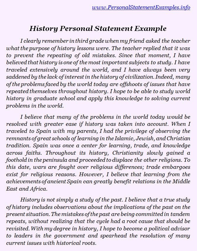 Best History Personal Statement Examples httpwwwpersonalstatementsamplenetbesthistory