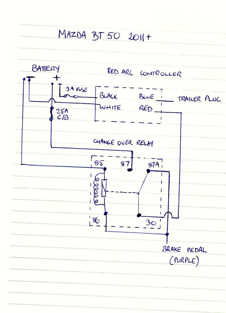 bt 50 wiring diagram simplified animal cell brake controller | ute 4x4 project pinterest