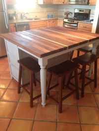 island kitchen table with storage