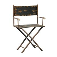 Scaled Metal Director's Chair Sculpture   Products ...